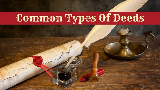 Common Types Of Deeds