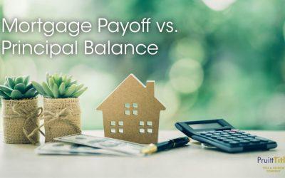 Principle Balance VS Actual Payoff